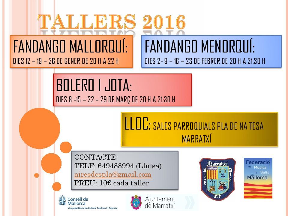 Tallers ball de bot 2016