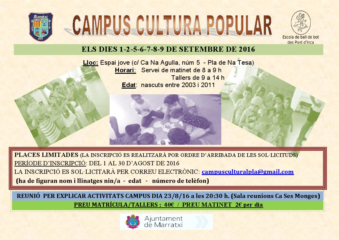 Campus cultura popular – Septiembre 2016