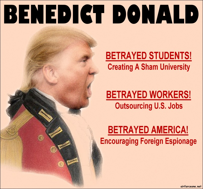 Image result for donald trump benedict arnold