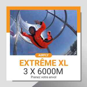 Billet cadeau soufflerie Airfly EXTREME XL