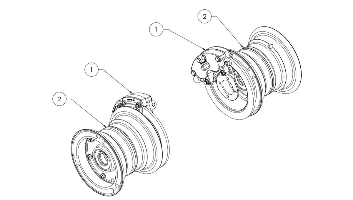 Alaskan Bushwheel 199-71 Wheel and Brake Assembly