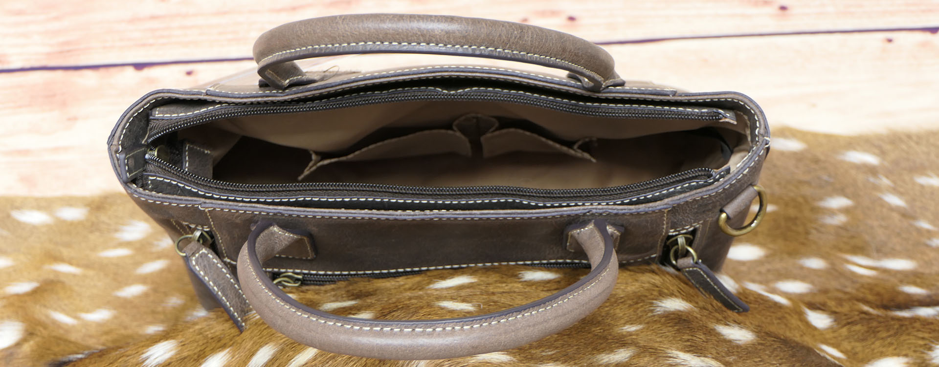Leather Town Tote