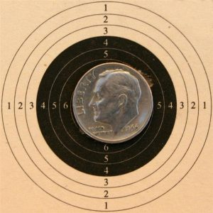 TechForce 97 5 Shot, Open sights, 10 yards