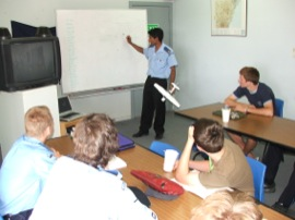 Cadets learning avation theory