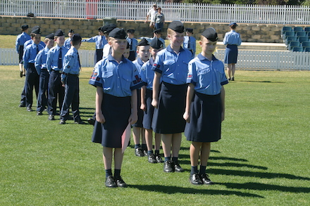AAL Cadets on Review