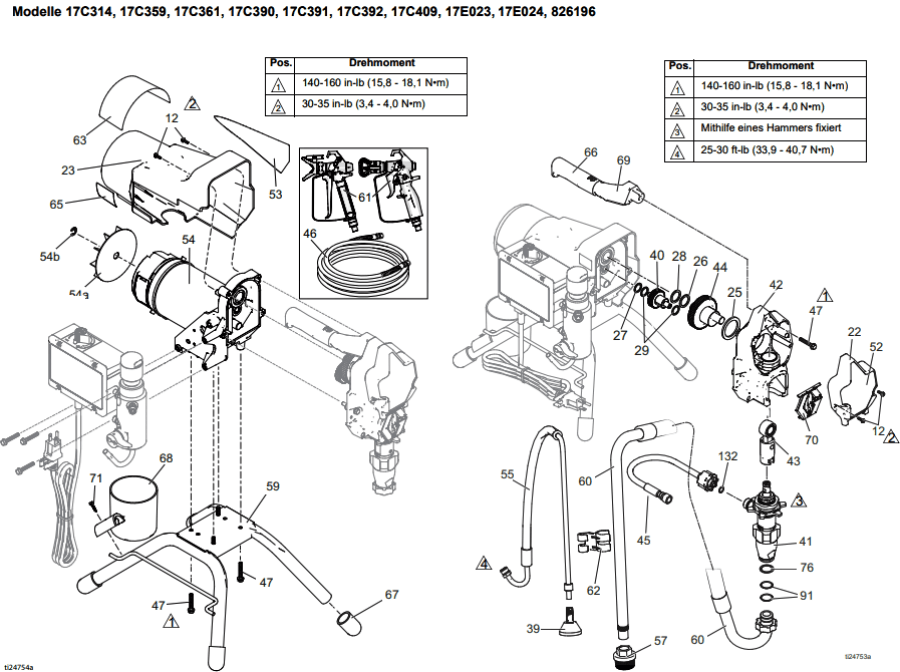 Graco Classic S 395 Pc Stand Technical Drawing Spare Parts Order List Airless Discounter News For Home Painters