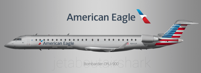 American Eagle Mesa Airlines CRJ900  recreate  by AirShark  Gallery  Airline Empires