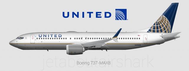 Resultado de imagem para Foto: boeing 737 MAX-8 da United Airlines