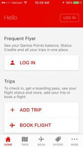 Qantas Airlines mobile