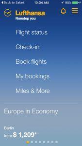 Lufthansa mobile