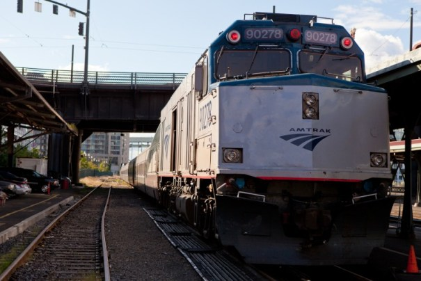 About ready to head north on the Amtrak Cascades. Photo by Jeremy Dwyer-Lindgren / NYCAviation.com.