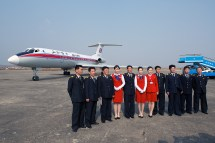 Flying Air Koryo Tupolev Tu-134 In North Korea