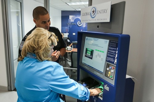 Global Entry. Image: Josh Denmark / US Customs & Boarder Patrol.