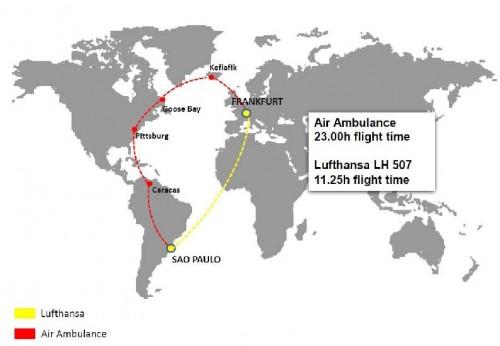 Air Ambulance vs Lufthansa
