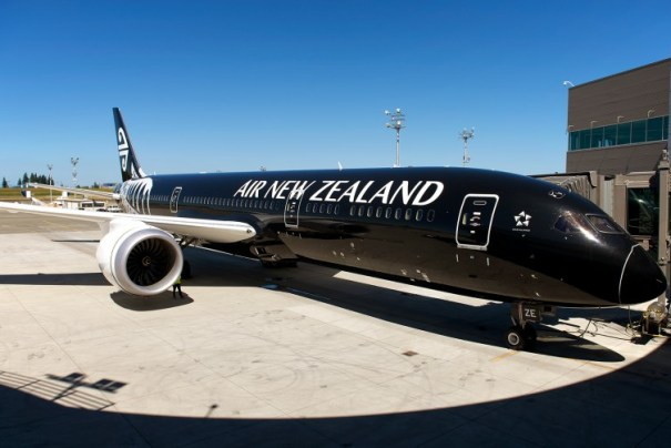 Air New Zealand's first Boeing 787-9 at the delivery center - Photo: Bernie Leighton