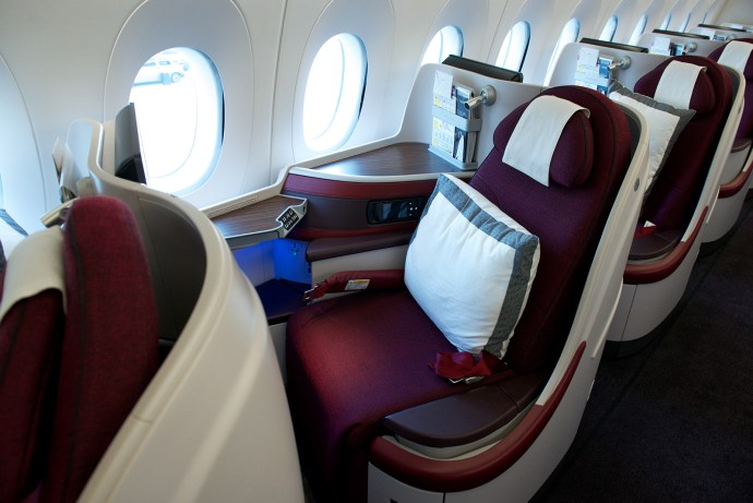 Image result for qatar airways a350 business class
