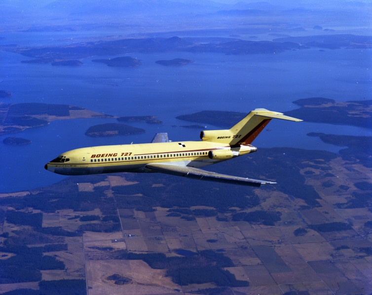 The Boeing 727's first flight - Photo: Boeing