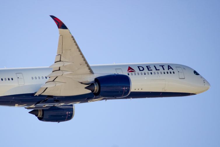 A Delta A350 departs DTW, the DL A350 hub. - Photo: Andrew Poure