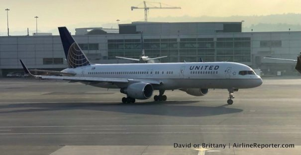 We didn't actually get to fly a United 757, but we did get to see one, so that was cool.