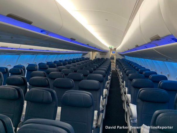"The lighting felt very ""Boeing Sky Interior"""
