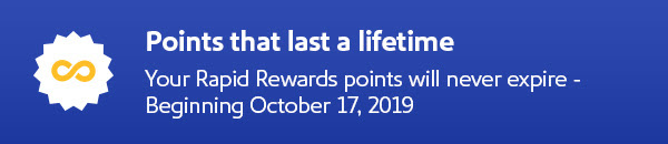 Rapid Rewards updates- Points don't expire