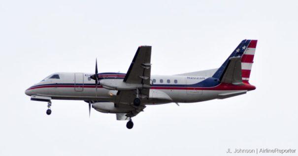 N202SR, a Saab 340B at Dulles in October, 2010.