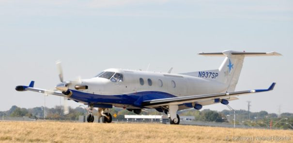 N937SP, a Pilatus PC-12 spotted in Memphis, October, 2010.