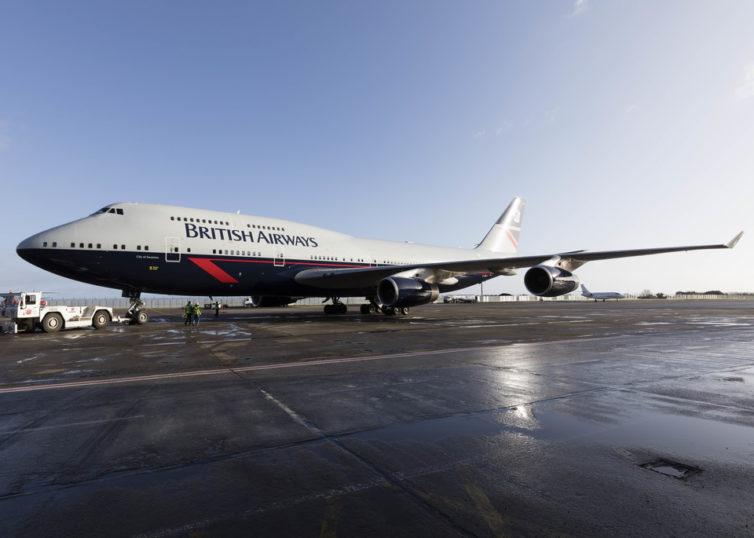 Landor 747 retro livery - Photo: BA