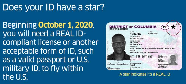 Real ID Poster for Washington D.C. - Image: TSA