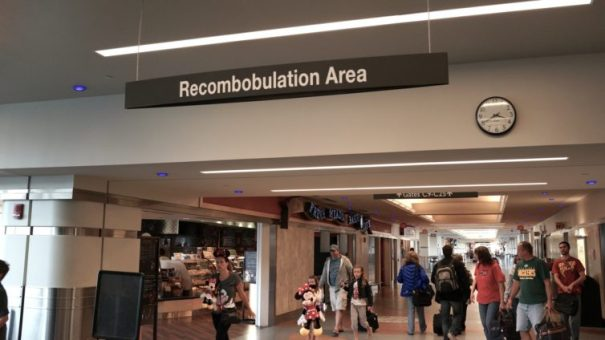 As a known-traveler you won't need to use the recombobulation area just past the TSA checkpoint at Milwaukee's General Mitchell airport.