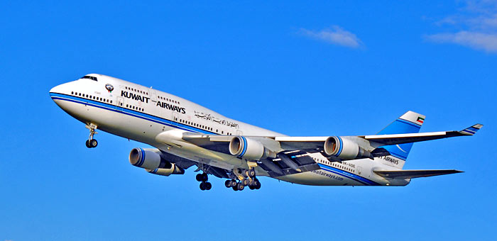 9K-ADE Kuwait Airways Boeing 747-469M plane
