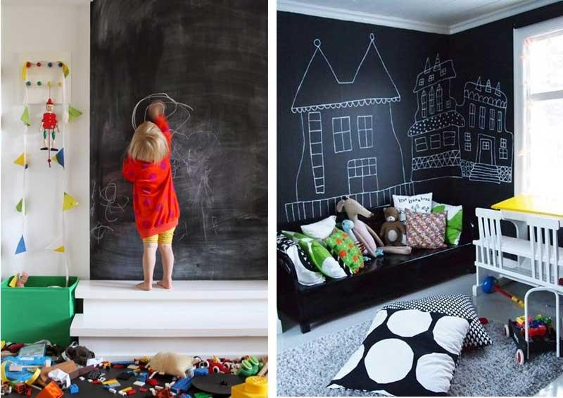 Kinderkamer inspiratie met schoolboordverf muur  Airmagazine