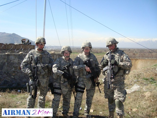 This was my first mission outside the wire (off base) when I was deployed to Afghanistan in 2010.