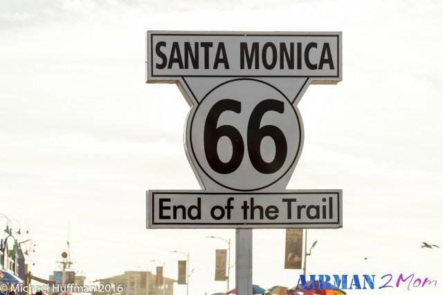 Santa Monica Pier makes for a great tourist stop on your LA road trip.
