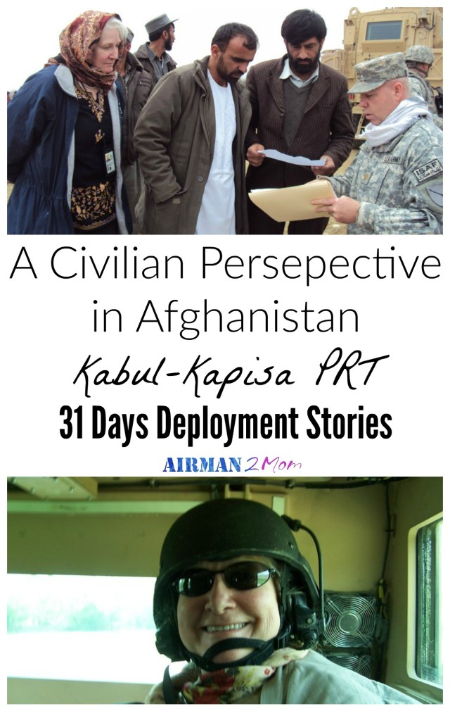 A Civilian Perspective in Afghanistan. Not everyone who deploys is part of the military. Many government agencies and contractors are working overseas. Here is the story of one civilian who served as part of the Department of Agriculture.