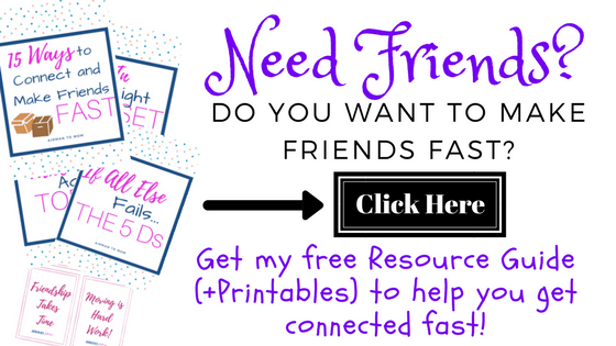 Helping you get connected in your new community fast! Join my email list today!