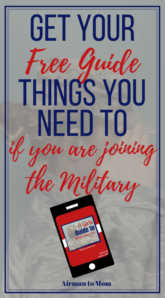 Are you considering joining the military? Have you signed up to join the military but still have questions? Check out my free guide to help you prepare for military life. Check out a girls guide to military life today. #militarywomen #joiningthemilitary #military