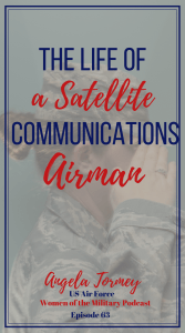 Check out Angela's story this week on Women of the Military podcast. Episode 63 is about her experience in the military as a Satellite Communications specialist. Hear her story or read it on the blog. #militarywomen #womenofthemilitary #satellite #militaryhistory #airforce #dualmilitary #miltomil