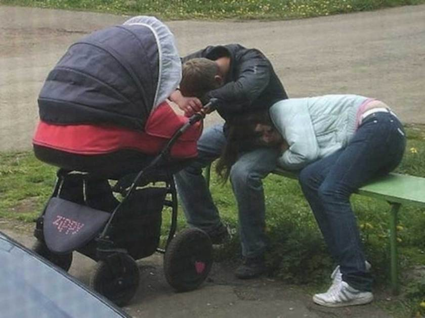 parents fatigués