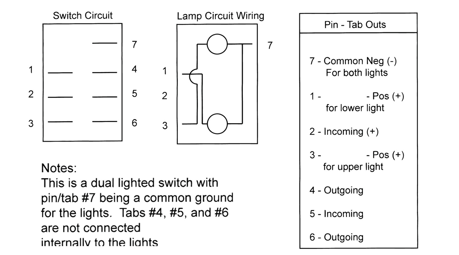 lighted rocker switch wiring diagram ignition panel carling 3 pin