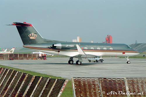 JY-HAH Gulfstream G1159A (Brussel, 1991)