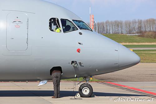 OO-TAY BAe 146-200QC Royal Air Force (met extra beenruimte voor lange piloten...!)