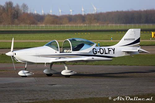 G-OLFY Breezer Aircraft Breezer B600 op aflevering naar de UK