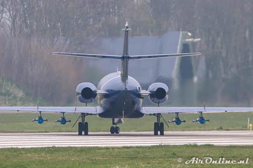G-FRAU Dassault Falcon 20 Cobham met 4 sleepdoelen