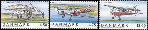 De overige zegels uit de serie van 2006 met Deense vliegtuigen
