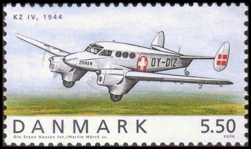 De OY-DIZ SAI KZ IV op een Deense postzegel uit 2006