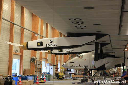 HB-SIB Solar Impulse 2 met twee van de vier electromotoren