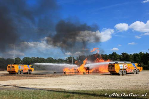 Met de crashtenders is het vuur snel geblust