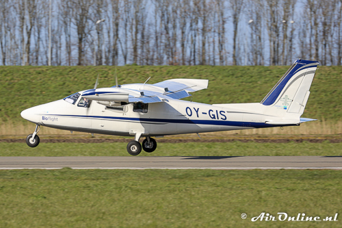 OY-GIS Vulcanair P.68C-TC Bio Flight