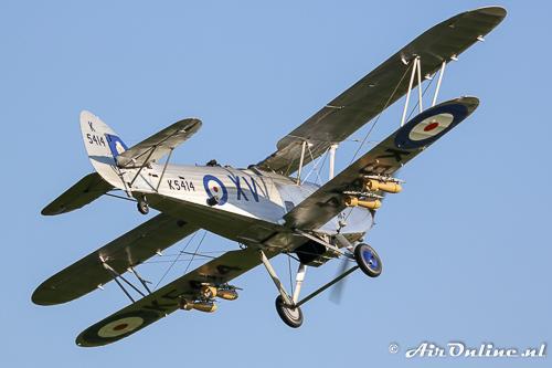 G-AENP / K5414 Hawker Hind, dit type was de voorloper van de Blenheim